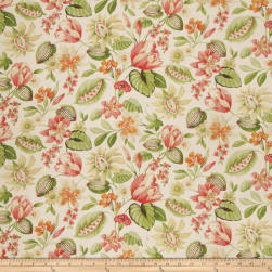 Fabricut Norma Floral Passion Fruit Fabric