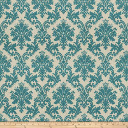 Fabricut Oat Damask Teal Fabric