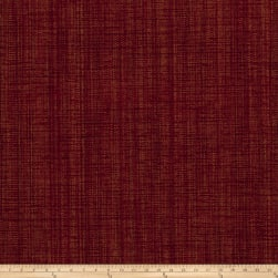 Fabricut Panorama Basketweave Chenille Cranberry Fabric