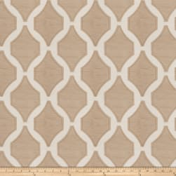 Fabricut Pavilion Embroidered Truffle Fabric