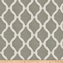 Fabricut Pavilion Embroidered Charcoal Fabric