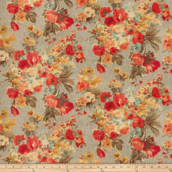 Fabricut Pedro Floral Ruby Fabric