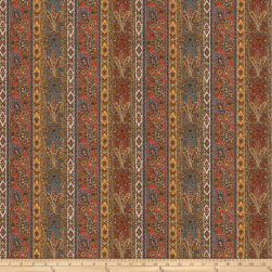 Fabricut Penny Paisley Velvet Antique Amber Fabric