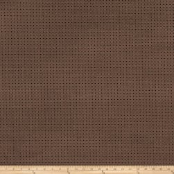 Fabricut Perforated Faux Suede Mocha Fabric