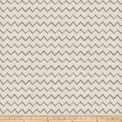 Fabricut Pip Chevron Embroidered Faux Linen Nile Fabric