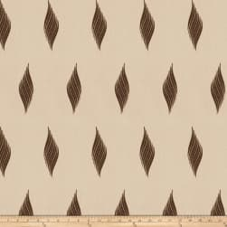 Fabricut Piye Embroidered Brown Fabric