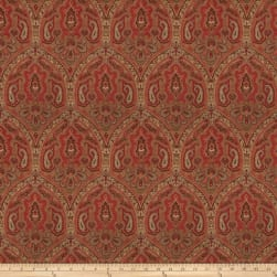 Fabricut Rationalism Linen Vintage Red Fabric