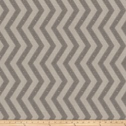 Fabricut Rockfest Chevron Linen Blend Chrome Fabric