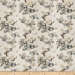 Fabricut Sham Floral Cloud Barkcloth Mist Fabric