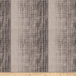 Fabricut Showbox Stripe Jacquard Black Fabric