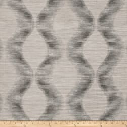 Fabricut Simple Plan Faux Silk Charcoal Fabric