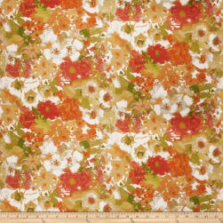 Fabricut Skewer Floral Barkcloth Autumn Fabric