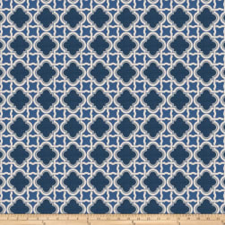 Fabricut Stock Lattice Barkcloth Navy Fabric