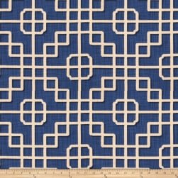 Fabricut Straight Draw Basketweave Blue Fabric