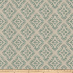 Isabelle De Borchgrave Stucco Diamond Teal Fabric