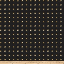 Fabricut Studded Squares Linen Blend Gold Fabric