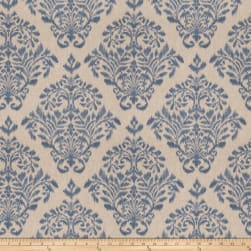 Fabricut Tact Damask Basketweave Denim Fabric