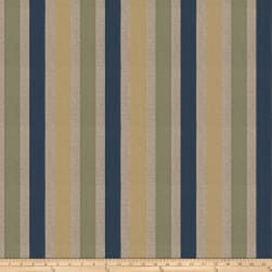 Fabricut Tailored Stripe Jacquard Marine Fabric
