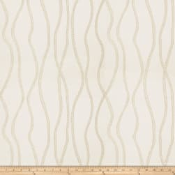 Fabricut Vega Metallic White Silver Fabric