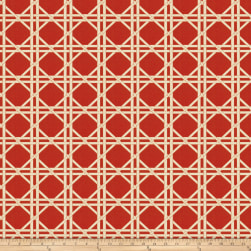 Fabricut Vlad Lattice Jacquard Red Fabric