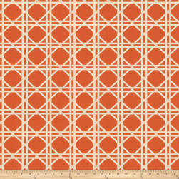 Fabricut Vlad Lattice Jacquard Orange Fabric