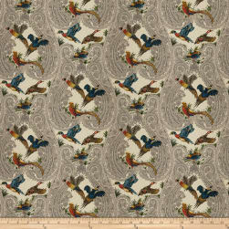 Fabricut Yawl Birds Twill Autumn Fabric
