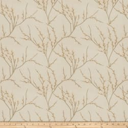Fabricut Zaria Embroidered Khaki Fabric