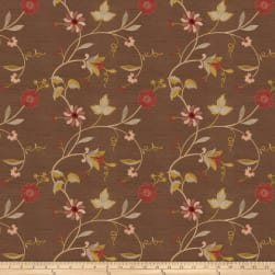 Trend 01322 Dupioni Embroidered Cocoa Fabric