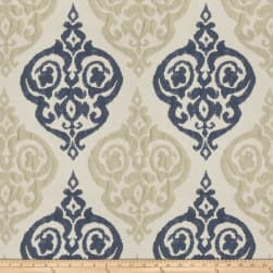 Trend 03155 Faux Silk Navy Tan Fabric