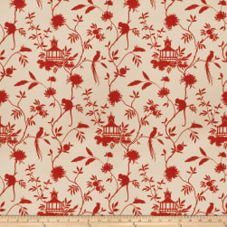Vern Yip 03364 Duck Red Fabric