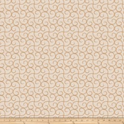 Trend 03617 Embroidered Shantung Caramel Fabric