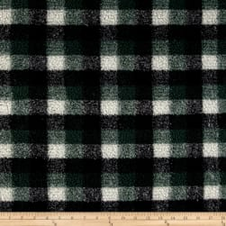 Shannon Berber Check Fleece Hunter Fabric