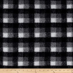 Shannon Berber Check Fleece Charcoal Fabric
