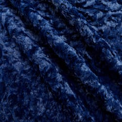 Shannon Minky Luxe Cuddle Marble Navy Fabric