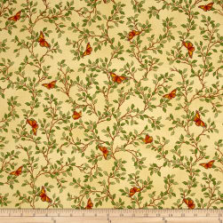 QT Fabrics Serenity Prayer Butterfly Vine Gold Fabric