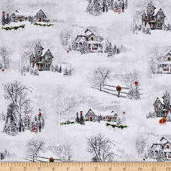Home For The Holiday Christmastime Winter Scenic Vignettes Gray