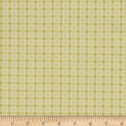 Poinsettia Grandeur Metallic Plaid Cream Fabric