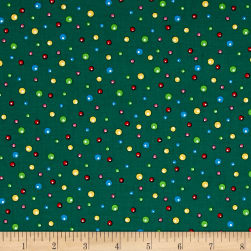 Fun With Rudolph Dots Forest Fabric