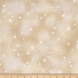 Woodland Friends Snow Med Tan Fabric