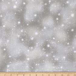 Woodland Friends Snow Gray Fabric