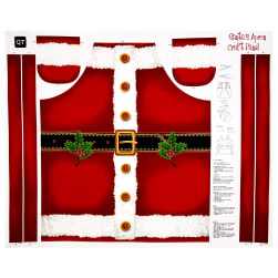 "Sew & Go Metallic Santa's Apron 35"" Panel Red"