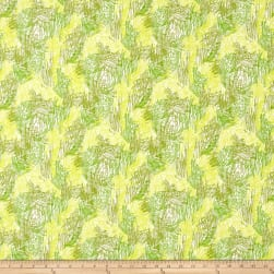 Bow Wow Wow Scritch Scratch Lime Fabric