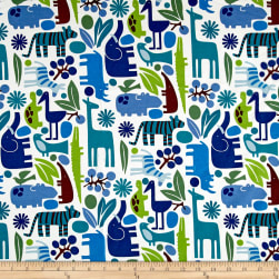 Alexander Henry Jersey Knit 2-D Zoo Pool Fabric