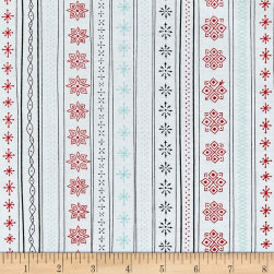 Ink & Arrow Mingle & Jingle Snowflake Stripe White