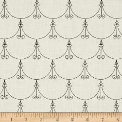 Queen Of We'en Regal Scallop Ecru Fabric