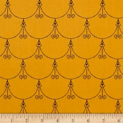 Queen Of We'en Regal Scallop Pumpkin Fabric