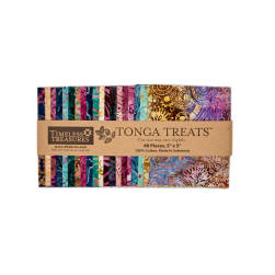 "Timeless Treasures Tonga Batik Zanzibar 5"" Square Packs"