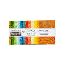 "Timeless Treasures Tonga Batik Happy Hour 5"" Square Packs"