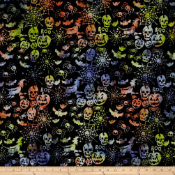Timeless Treasures Tonga Batik Haunted Halloween Boo Fabric