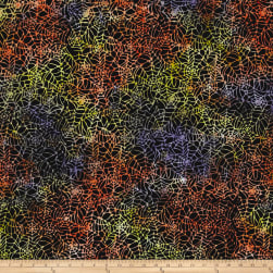 Timeless Treasures Tonga Batik Haunted Spider Web Spooky